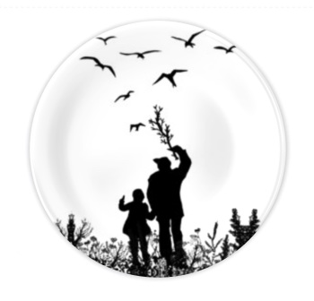 Bone China Plate - Me & Dad