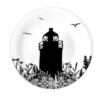 Bone China Plate - Auld Lighthouse