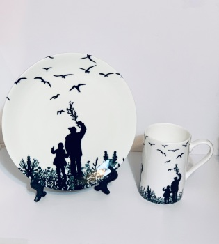 Bone China Mug and Plate - Me & Dad
