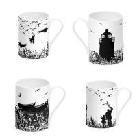 Da Banks Collection Bone China Mugs set of 4