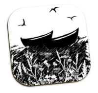 Da Banks Peerie Auld Fishing Boats - Coaster