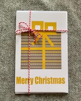 Fair Isle Christmas Parcel Card