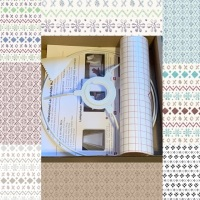 Fair Isle Fabric Lampshade Kit 20cm