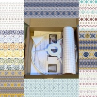 Fair Isle Fabric - lampshade kit 30cm