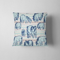 **SALE** Fair Isle Shetland Ponies - Original Cushion