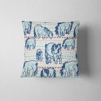 Fair Isle Shetland Ponies - Original Cushion