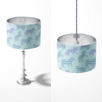 Fair Isle Dancing Ponies - Original lampshade