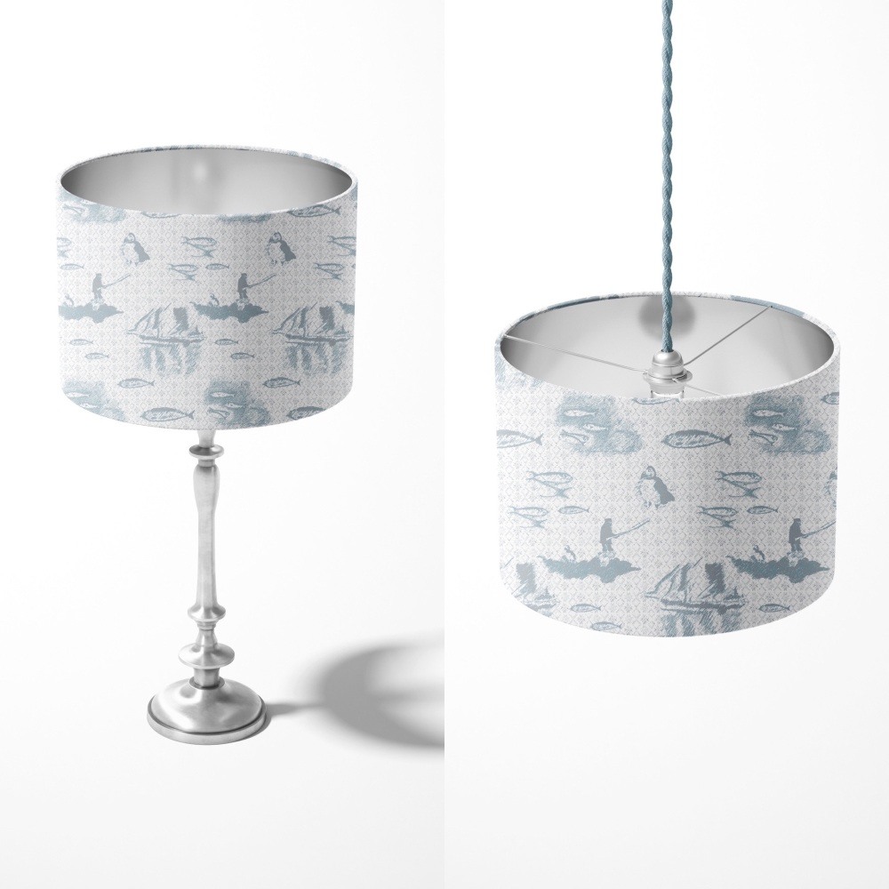 Tammie Norie Fishing - Tactile Lampshade