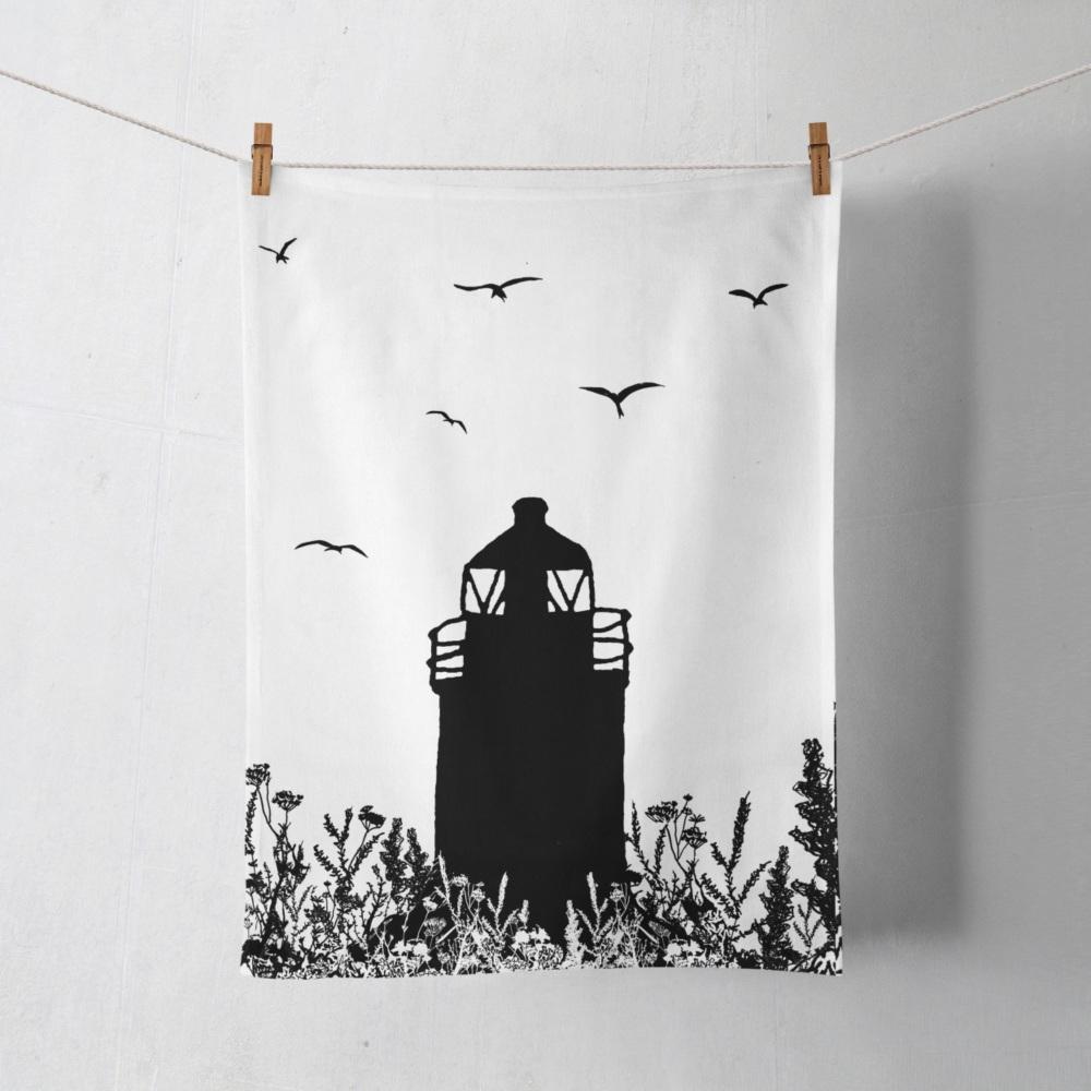 Da Banks Auld Lighthouse - Tea Towel