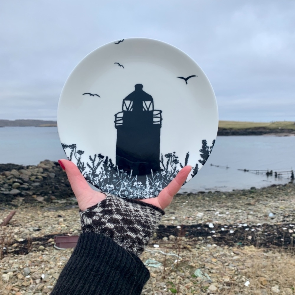 Da Banks Auld Lighthouse - Bone China Plate