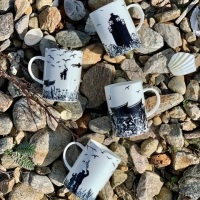 Da Banks Collection Bone China Mugs set of 4