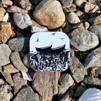 Da Banks Peerie Auld Fishing Boats - Coaster
