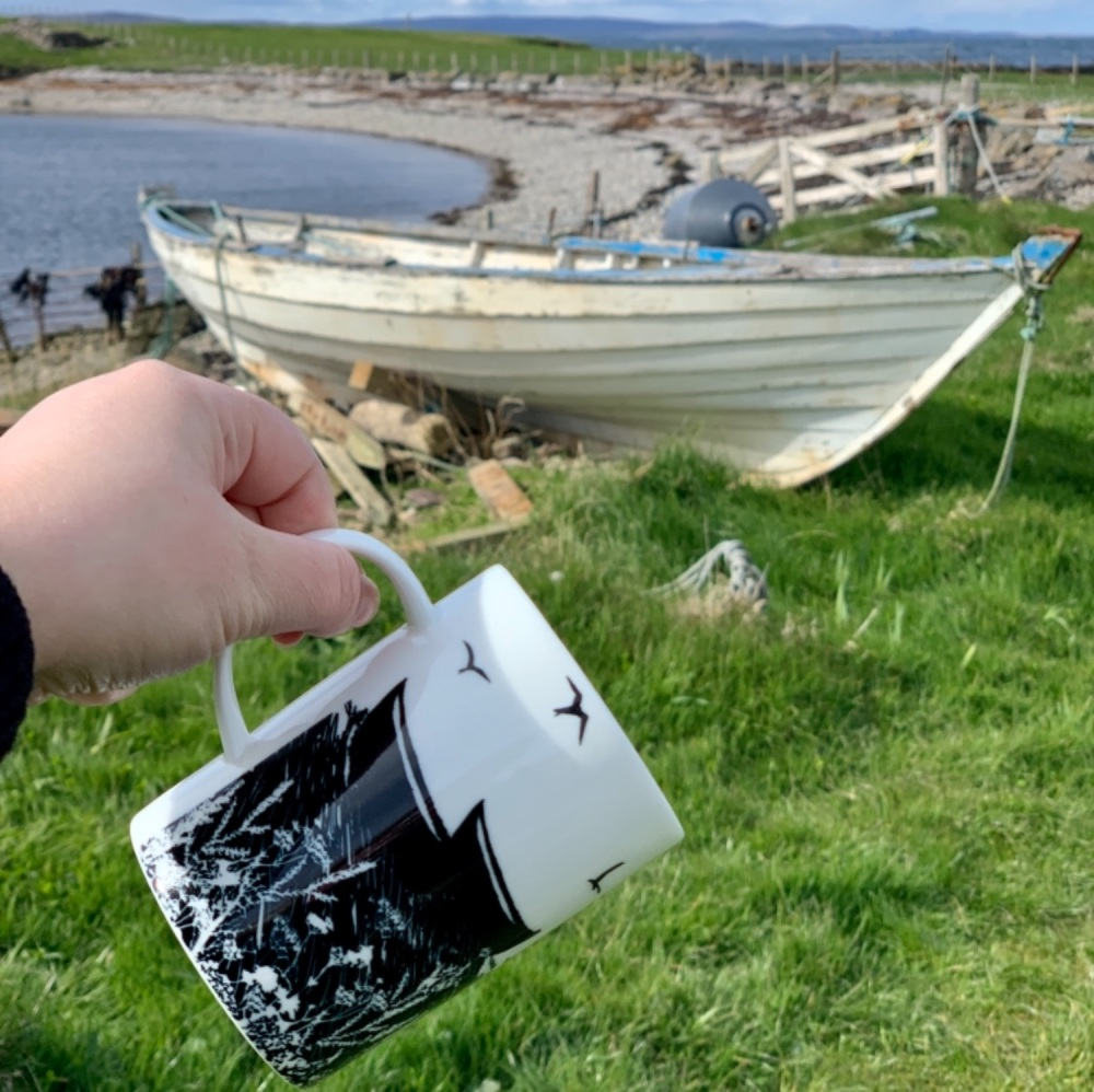 Da Banks Peerie Fishing Boats - Bone China Mug