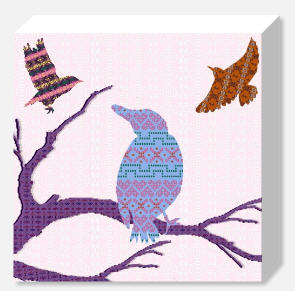 Shetland Starling Canvas - Blue Bird