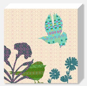 Shetland Starling Canvas - Turquoise Bird