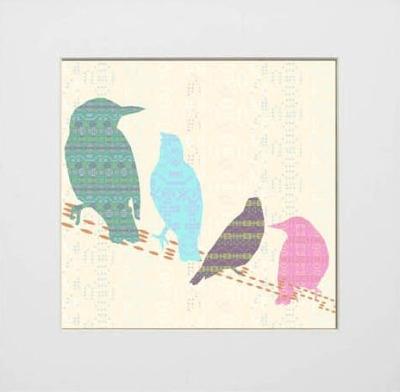 Shetland Starling Print - Line Birds