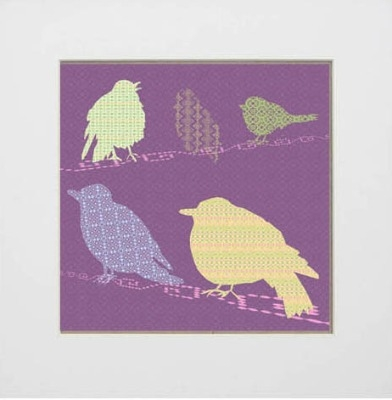 Shetland Starling Print - Purple Background