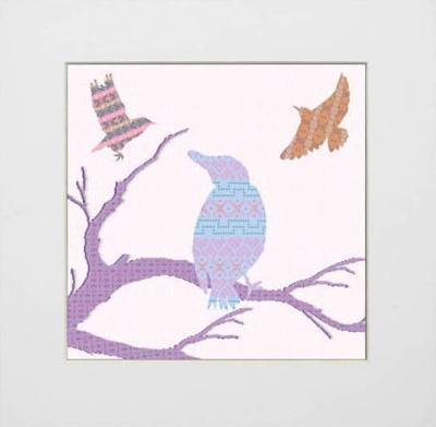 Shetland Starling Print - Blue Bird on Branch