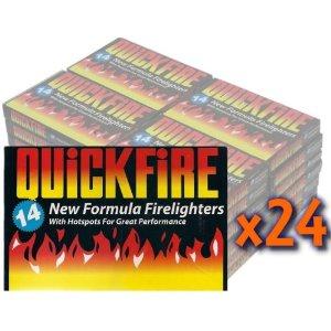 24 Packs of Quickfire Firelighters Bulk Pack