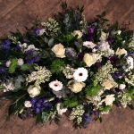 Blue, White & Lime Casket Spray