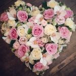 Roses & Orchid Pastel Heart