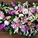 Summer Flowers Pastel Casket Spray