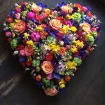 Large Vibrant Floral Heart
