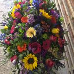 Vibrant Mixed Colour Casket Spray
