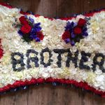 Brother Floral Pillow Tribute