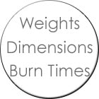 Weights_Dimensions_BurnTimes_140px