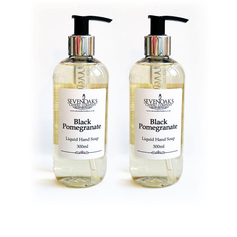 2x Black Pomegranate Liquid Hand Wash