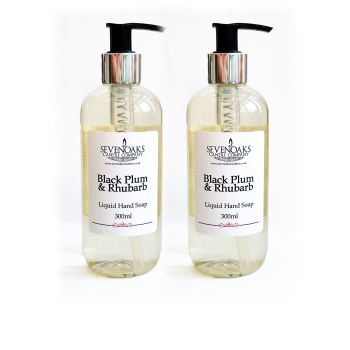 2x Black Plum & Rhubarb Liquid Hand Wash