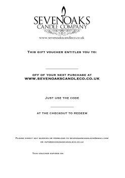 Gift Voucher | £5 - £25