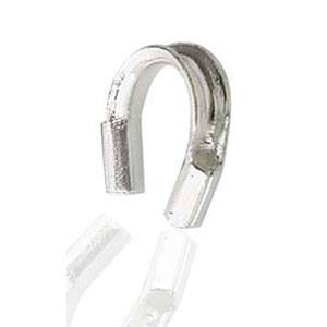 STERLING SILVER - WIRE PROTECTORS 4X4MM - PACK OF 50