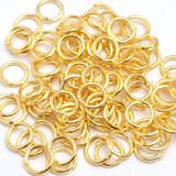 1MM X 6MM GOLD PLATED JUMP RINGS - PACK OF 500
