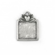 PREORDER -SQUARE PEWTER STAMPING BLANK - Dimensions: 1 1/8