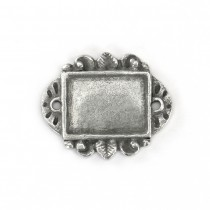 PREORDER - RECTANGLE PEWTER STAMPING BLANK -  Dimensions: 1 3