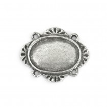 PREORDER - OVAL PEWTER STAMPING BLANK -  Dimensions: 1 3/16