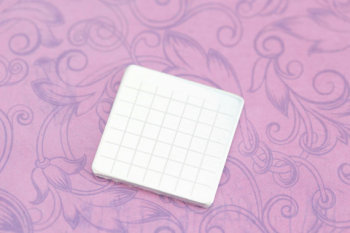 "Calendar Grid Blank - Guidelines for Stamping Calendars - 1"" Square Aluminum Blank - PACK OF 5"