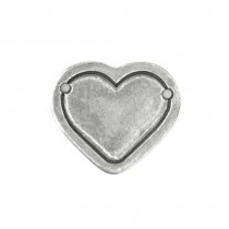 Pewter Stamping Blank, Heart Border (Large)