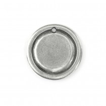 Pewter Stamping Blank, Circle Border (Large)
