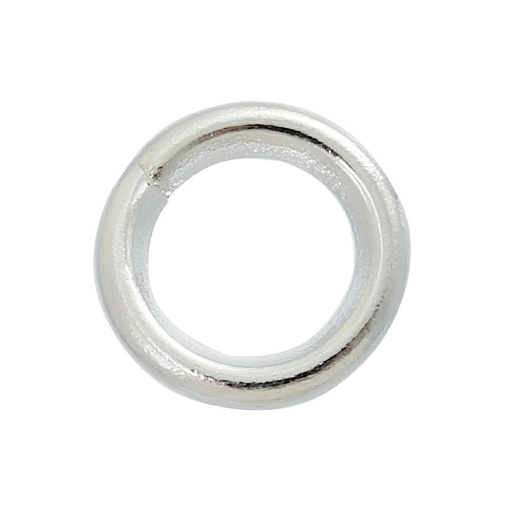 SILVER PLATED - 6X1MM JUMPRINGS - PACK OF 100
