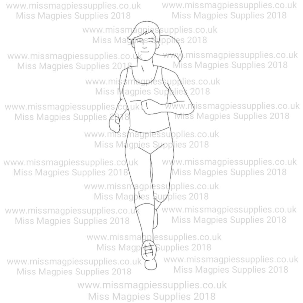 MMS DESIGN STAMP - FEMALE RUNNER - SELECT SIZE