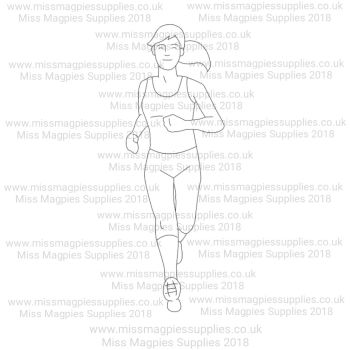 DS022 - MMS DESIGN STAMP - FEMALE RUNNER - PLEASE SELECT SIZE
