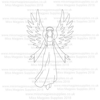 DS025 - MMS DESIGN STAMP - GUARDIAN ANGEL - PLEASE SELECT SIZE
