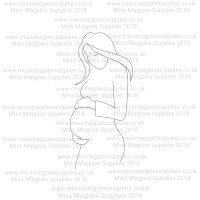 DS039 - MMS DESIGN STAMP - PREGNANT LADY - PLEASE SELECT SIZE