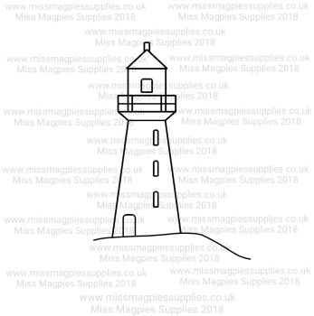 DS087 - MMS DESIGN STAMP - LIGHTHOUSE -  PLEASE SELECT SIZE