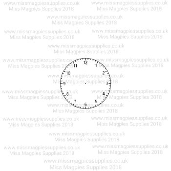 MMS DESIGN STAMP - CLOCK FACE ONLY (NO HANDS) -  PLEASE SELECT SIZE