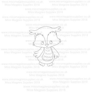 DS096 - MMS DESIGN STAMP - OWL - PLEASE SELECT SIZE