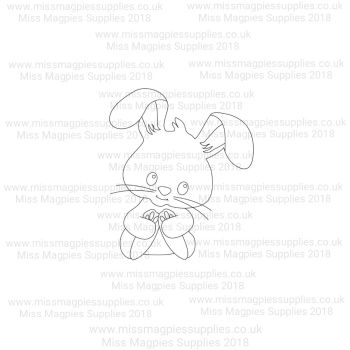 DS104 - MMS DESIGN STAMP - RABBIT - PLEASE SELECT SIZE